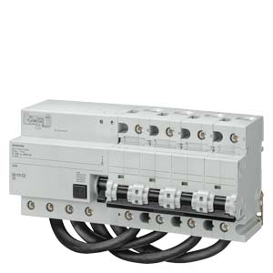5SU16748EK81 Дифф. автомат SIQUENCE Тип B,UNIVERS.CURRENT SENSITIV IFN 300MA, 10KA, 4-пол., D 100A ДЛЯ SELECTIVE SWITCH OFF, 11MW DIN VDE0664-200,FIRE PROTECTION